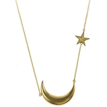 Melinda Maria Moon & Star necklace