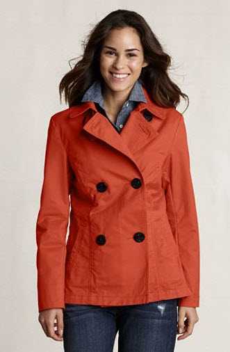 Lands End Canvas Women's Heritage Pea Coat