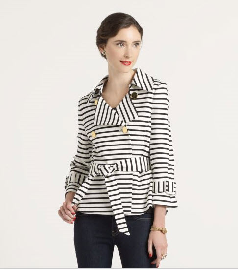 Kate Spade Spriped Bow Jacket