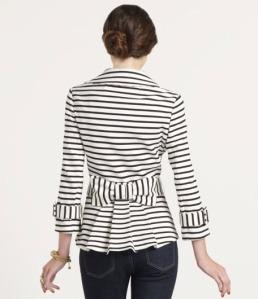 Kate Spade Striped Bow Jacket