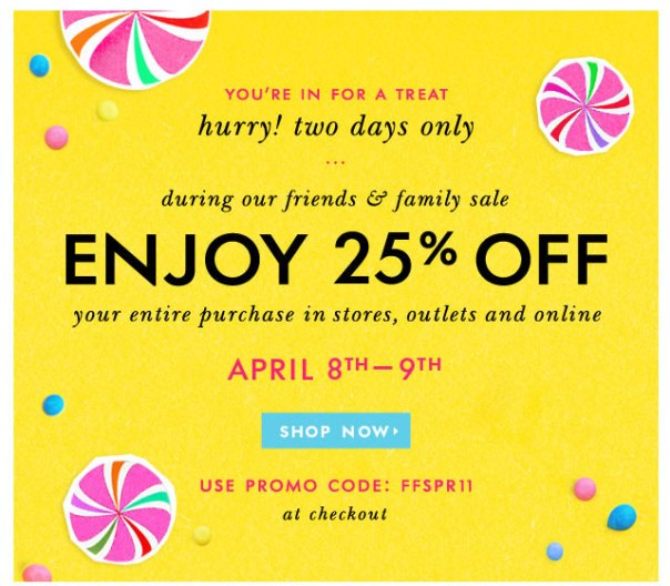 kate spade friends and family event