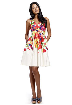 New Direction Floral Print Dress