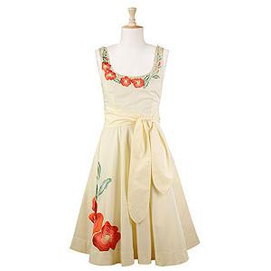 eShakti Pearl Detail Floral Dress