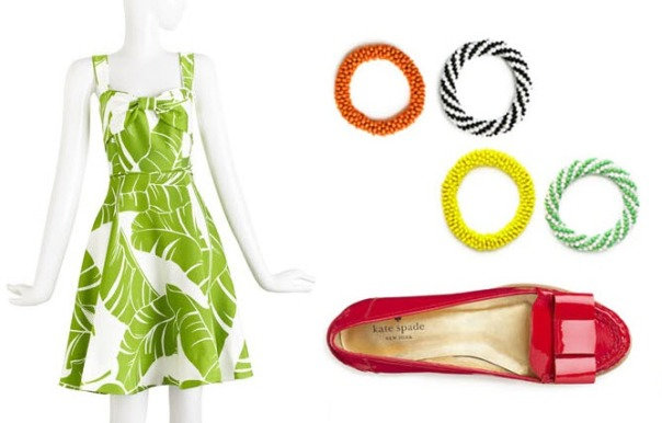 kate spade summer 2011 outfit, image courtesy of KateSpadelookbook.com