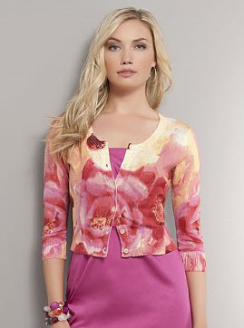 New York & Company floral print cardigan