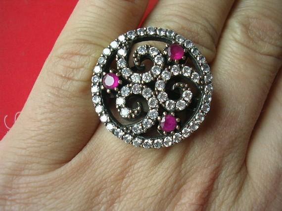 Belle Vue Ring sterling antique inspired