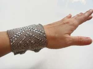 Liquid Silver Mesh Cuff Bracelet