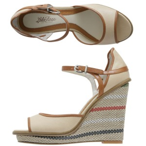 Isidro Ankle Strap Wedge from Payless