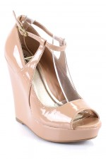 Qupid Enrich 90 Peep Toe Wedge at UrbanOg