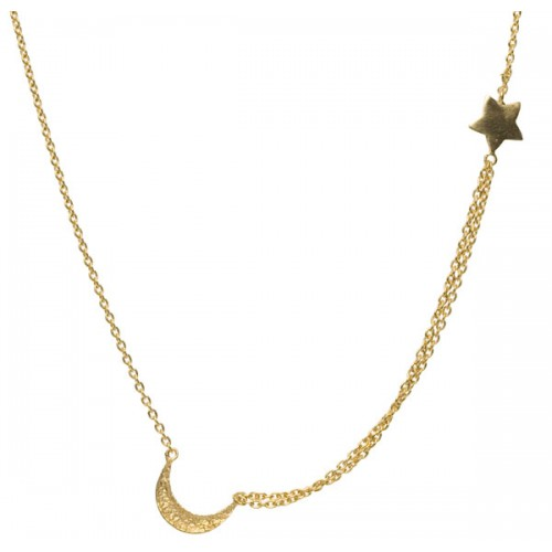 Baby Moon and Star Necklace
