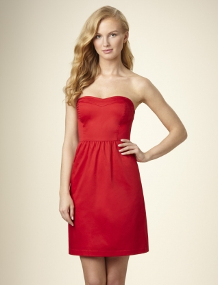 The Limited Seamed Sweetheart Strapless Dress