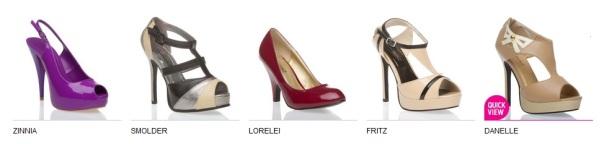 ShoeDazzle Zinnia, Smolder, Lorelei, Fritz, Danelle