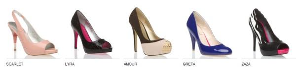 ShoeDazzle Scarlet, Lyra, Amour, Greta, Zaza