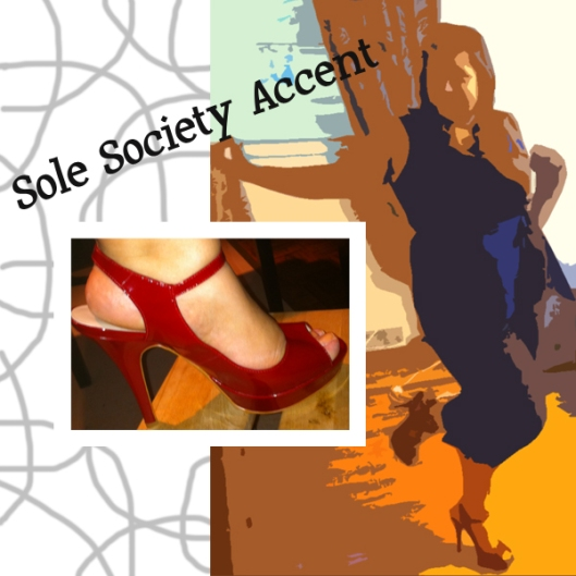 Sole Society Accent Peep Toe Heels