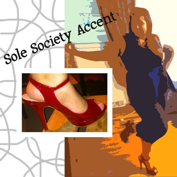 Sole Society Accent Peep Toe Heels