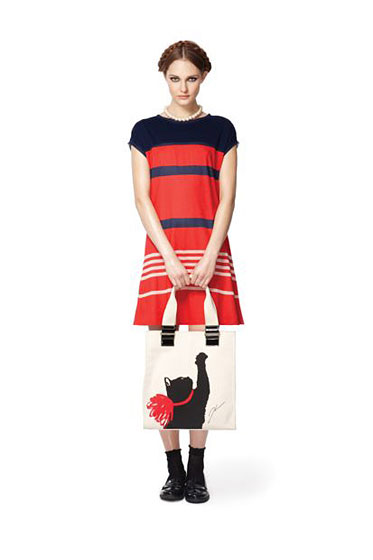 Jason Wu for Target Stripe Dress and Milu Tote
