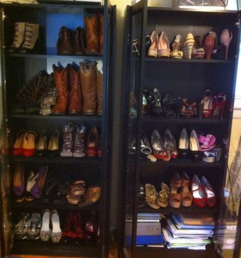 My Shoe Closet - see, I don't really need any more shoes!