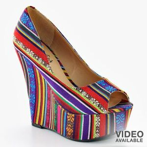 Candies Peep Toe Platform Wedge