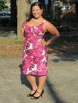 Dressember Midsummer Madness Day 1 Dress - Suzi Chin Purple / Pink Floral Sheath
