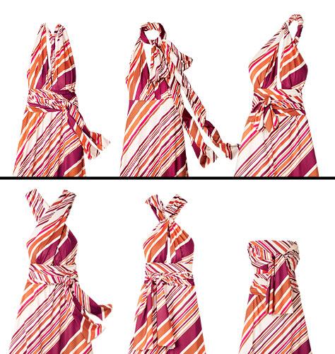 Avon Striped Convertible Dress