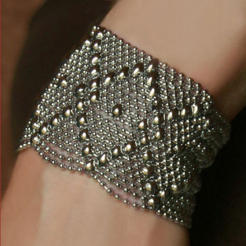 Diamond Stream Liquid Metal Bracelet - $99