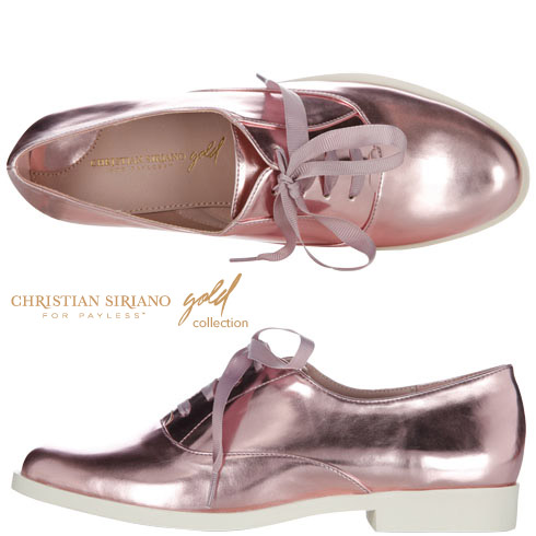 Christian Siriano Women's Margo Oxford $45 || Payless.com || Metallic Pink