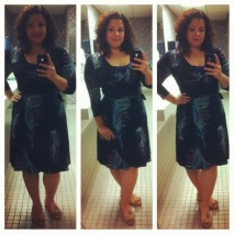 Lily wrap peackock feather dress from consignment