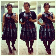 Holiday dress from Consignment store