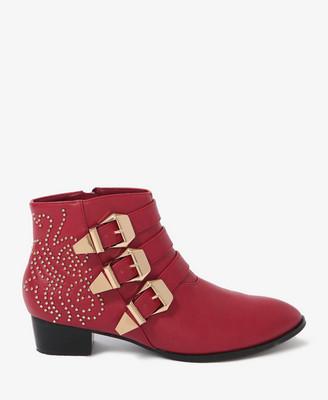 Forever21 Buckled Ankle Boots