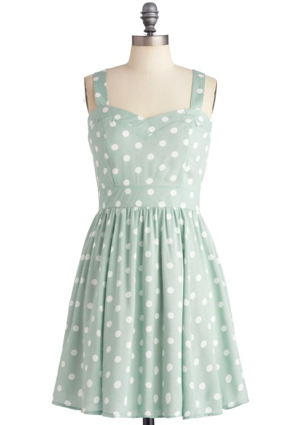 Milkshake Things Up Dress in Mint/Polka Dot || Modcloth || $90