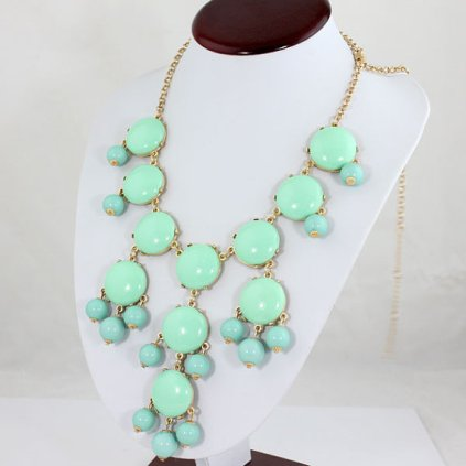 Mint Green Bubble Necklace || Etsy || $20.40 includes shipping