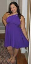 Von Vonni Short Transformer Dress Purple - for a rehearsal dinner
