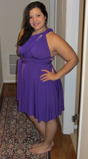 Von Vonni Short Transformer Dress in purple