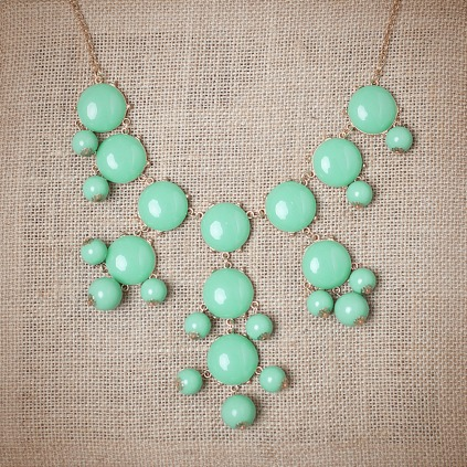 Mint Bubble Necklace || Urban Peach || $20 with shipping