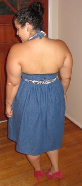 transformation diy denim dress refashion