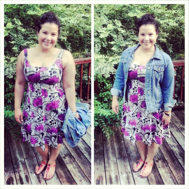 breezy summer dress + jean jacket