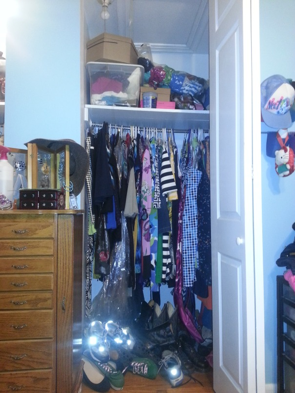 closet organization before