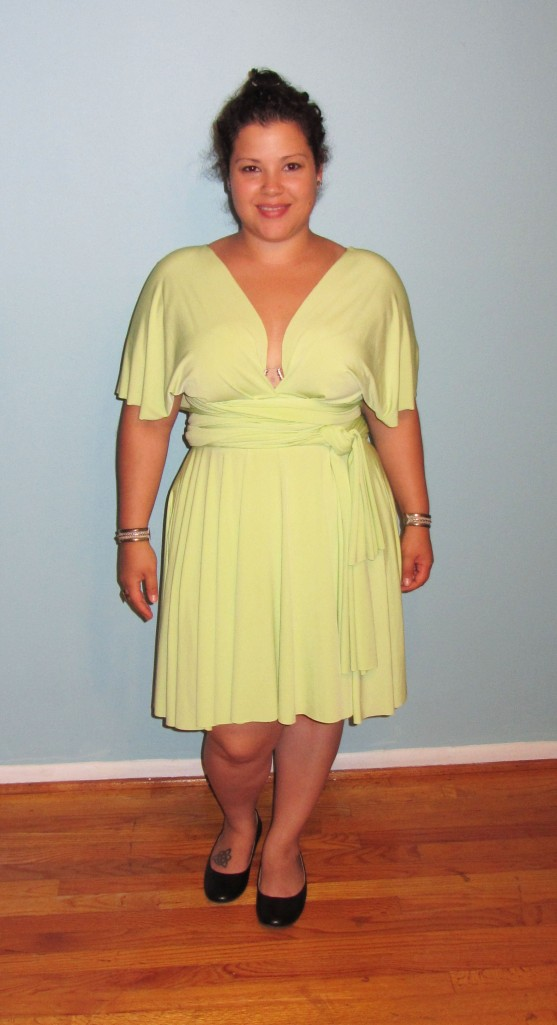 lime green von vonni transformer dress