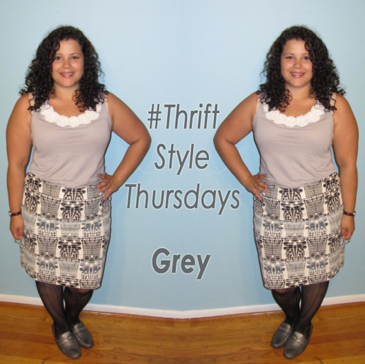 thrift style thursday - wearing grey
