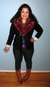 diy faux fur collar - burda pattern
