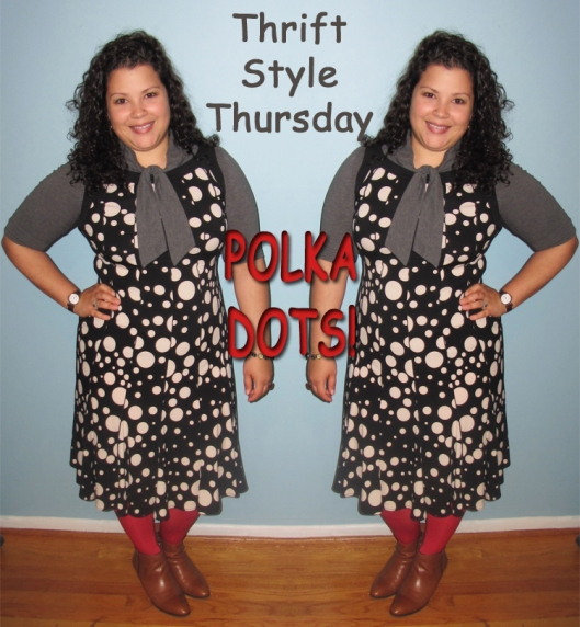 thrift style thursday polka dot dress
