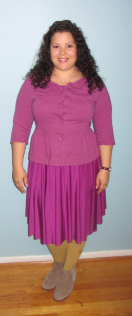 radiant orchid // henkaa convertible dress as  skirt