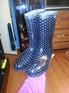 sloggers polka dot rain boots