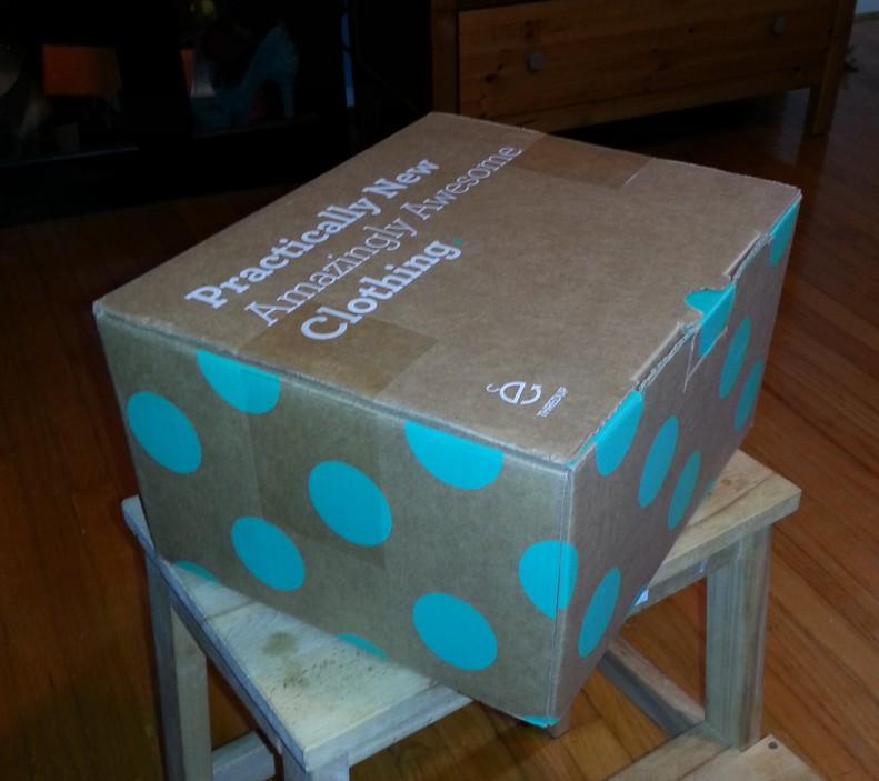 thredup polka dot box