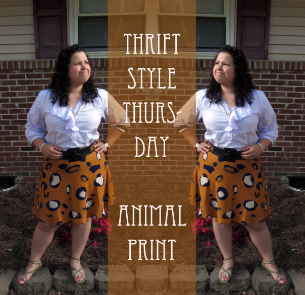 Thrift Style Thursday Animal Prints Phillip Lim Target skirt