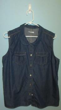 Gap sleeveless denim shirt