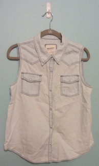 Arizona light denim sleeveless shirt