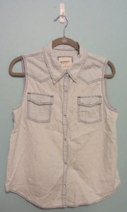 Arizona light denim sleeveless shirt