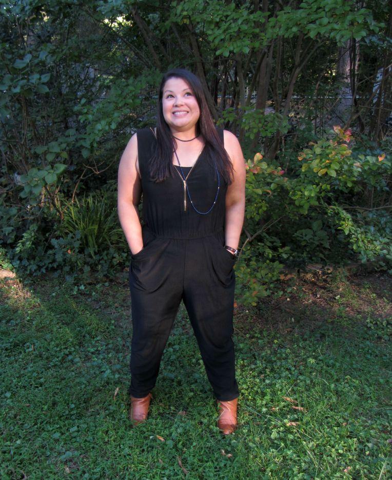JustFab Mandy Jumpsuit in black