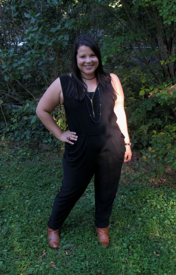 JustFab Mandy Jumpsuit in black